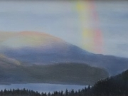 Rainbow over Skaha - Terry Isaac- SOLD