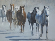 Trotting  To Water by Terry Isaac